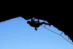 Climber silhouette Stock Photo
