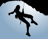 Climber with sky Stock Photography