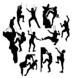 Climber Sport Extreme Activity Silhouettes Royalty Free Stock Images