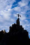 Climber on the summit. Stock Photography