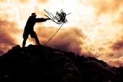 Climber On The Top Stock Images