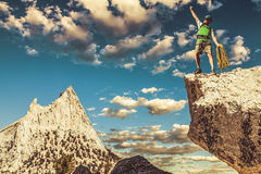 Climber on the top. Royalty Free Stock Photo
