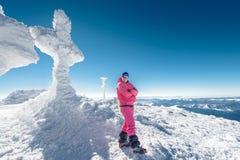 Climber, top, woman, joy Stock Photography