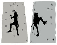 Climber vector Royalty Free Stock Images