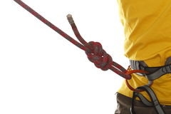 Climber with yellow shirt Stock Photo
