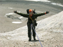 Climber. Royalty Free Stock Photos