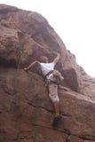 Climberl στο βράχο Στοκ Φωτογραφία