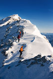 Climbers on the ascent Royalty Free Stock Photos