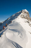 Climbers on the ascent Stock Images