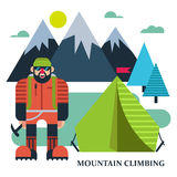 Climbers camp illustration Stock Image