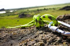 Climbers carabiner Stock Photography