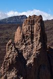 Climbers climb to the peak of the Teide National Park royalty free stock photography