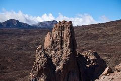 Climbers climb to the peak of the Teide National Park stock photos