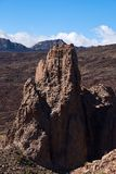 Climbers climb to the peak of the Teide National Park stock photography