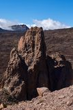 Climbers climb to the peak of the Teide National Park stock image