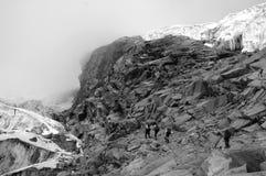 Climbers on Cordillera Blanca  Royalty Free Stock Images