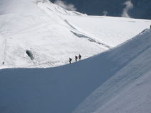 Climbers in French Alps Stock Photos