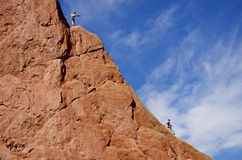 Climbers at Garden of the Gods Stock Images