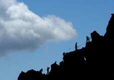 Climbers. Group of climbers in Swiss Alps Royalty Free Stock Photo