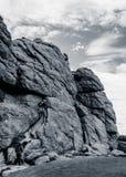 Climbers at Haytor Rocks Stock Photos