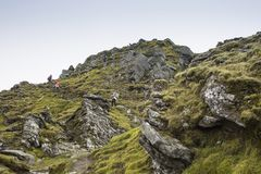 Climbers Heading to the Summit royalty free stock image