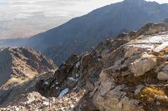 Climbers on the Lomnica Ridge. Tatra Mountains. Slovakia. Climbers on the Lomnica Ridge.  Tatra Mountains. Slovakia Royalty Free Stock Photography