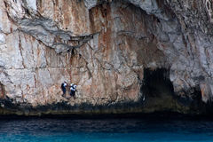 Climbers on the Mediterranean Stock Photo
