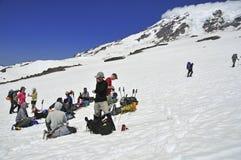 Climbers on Mount Rainier, Washington Stock Images