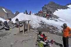 Climbers on Mount Rainier, Washington Royalty Free Stock Photos