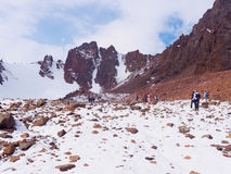 Climbers at the mountains Royalty Free Stock Photography