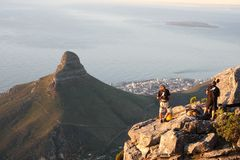 Table Mountain Climbers Stock Image