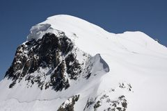 Of climbers roped together on Breithorn Royalty Free Stock Photography