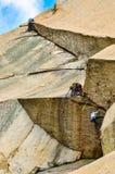 Scaling Ulsanbawi Rocks royalty free stock image