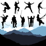 Climbers Set Vector Stock Images