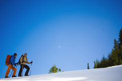 Climbers on a snow slope. Stock Image