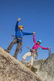 Climbers on the summit. Stock Photography
