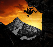 Climbers. In the Swiss Alps Royalty Free Stock Photography