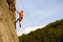 Climbing Royalty Free Stock Image