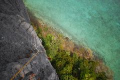 Climbing. Over the sea thailand Stock Images