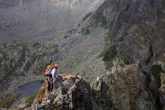 Climbing. In National Park Retezat, Romania Stock Photography