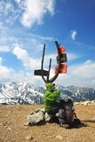 Climbing. In beautiful Tatra mountains Stock Photo