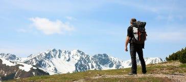 Climbing. In beautiful Tatra mountains royalty free stock photo