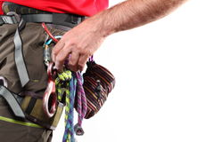 Climbing accessories Stock Photos