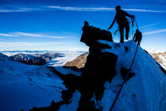 Climbing in the Alps Royalty Free Stock Image