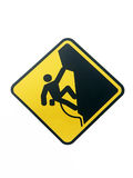 Climbing area. Sign royalty free illustration