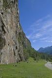 Climbing area Tumpen Royalty Free Stock Image