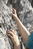 Climbing arms Royalty Free Stock Images