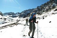 Climbing in Atlas mountain Stock Photography