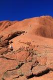 Climbing Ayres Rock -  Australia Stock Image