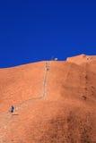 Climbing Ayres Rock -  Australia Stock Images